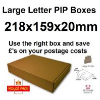 Large Letter Pip Box 218x159x20mm - 50 Pack - Die Cut